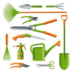 Essential gardening tools vector