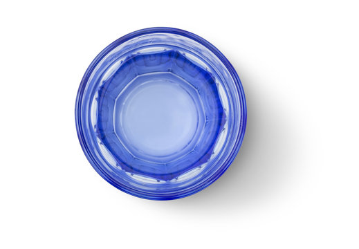 Top view of water glass cup