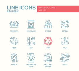 Esoteric - line design icons set