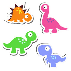 collection of cute stickers. Set of funny badges for clothes. Baby vector illustration. The pattern of children's toys