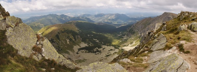 north panorama view from summit of Dumbier in Nizke Tatry mountains in Slovakia