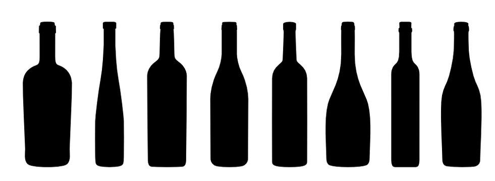 Weinflaschen Icons