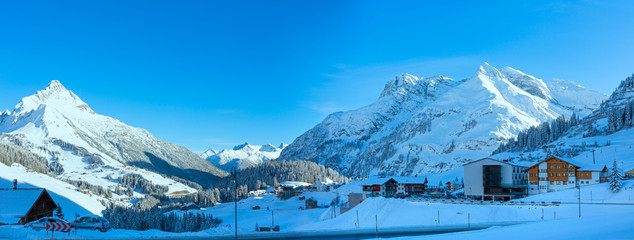Winter mountain village (Austria, Tirol, Haselgehr)
