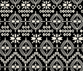 black and white tribal navajo - seamless background