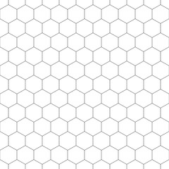 Grid seamless pattern. Hexagonal graphic design.Vector illustration. Honeycomb on white background.Speaker grille. Modern stylish abstract texture. Template for print, textile, wrapping and decoration