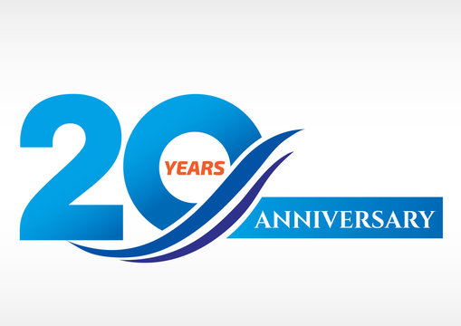 20 years anniversary Template logo