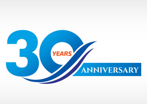 30 years anniversary Template logo