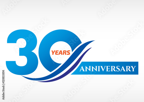 Quot years anniversary template logo stock image and