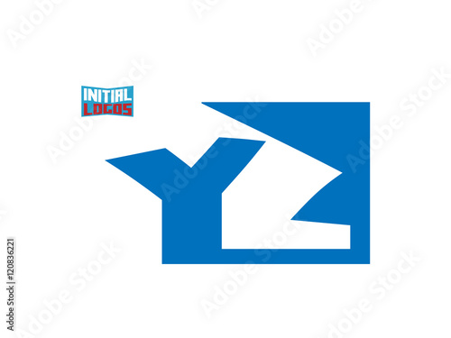 YZ Initial Logo for your startup venture