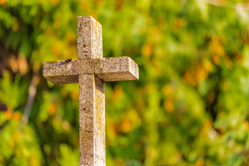 Christian marble cross