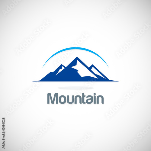 """""""mountain icon vector logo"""" Stock image and royalty-free ..."""