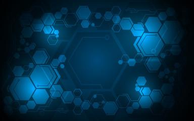 abstract hexagon pattern digital tech sci fi design concept background