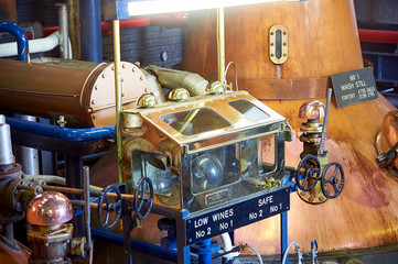 Machinery whiskey distillery in the Highlands, Scotland