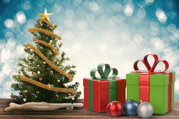 christmas gift and christmas ornament