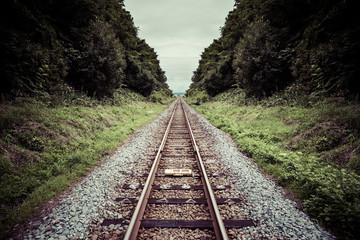 Canvas Prints Railroad まっすぐな鉄道の線路
