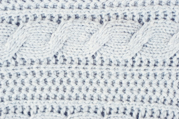 Knitted woolen background