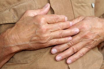 Gepflegte Hände Senior Rentner, Seniorenhände, Mann, Alter