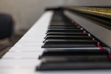 Keyboard of up right piano