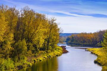 Siberian river Berd in autumn