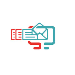 Vector illustration of document file mail icon.