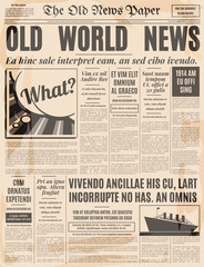 Old newspaper design vector template.