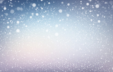 Snowflakes on Christmas blue background