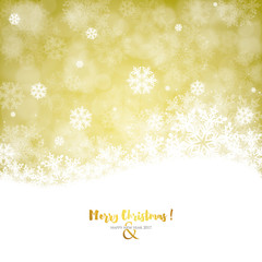 Christmas Card - Gold version with snowflakes