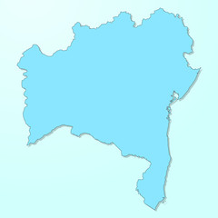 Bahia blue map on degraded background vector