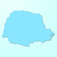 Parana blue map on degraded background vector