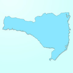 Santa Catarina blue map on degraded background vector