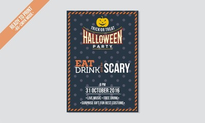 flyer halloween template vector