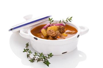 Culinary goulash soup.