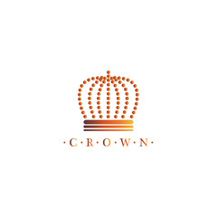 Royal Crown Icon - Isolated On White Background. Vector Illustration, Graphic Design. For Web, Websites, Print Material