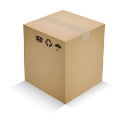 закрытая картонная коробка для отправки товара