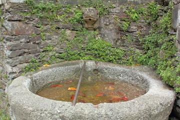 Poster Fontaine Fontaine du village