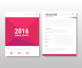 Pink Abstract polygon Vector annual report Leaflet Brochure Flye