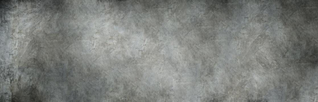panorama shot of grey polished concrete background.