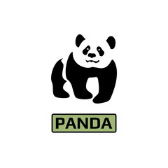 Vector of Panda bear icon. Business icon for the company. Logo for  pet shop / Zoo / symbol. Flat design. Illustration.