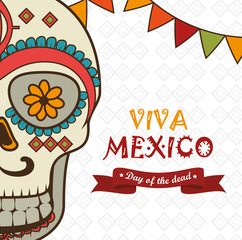 icon day of the dead mexican design isolated vector illustration eps 10