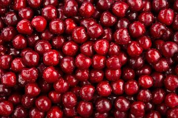 Cherry. Fresh organic berries macro. Fruit background