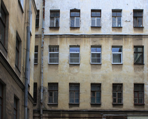 windows in old building photo