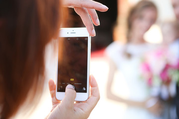 Foto cellulare matrimonio