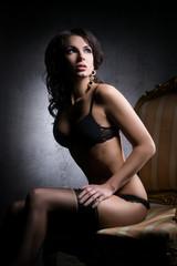 Beautiful and sexy girl in erotic underwear