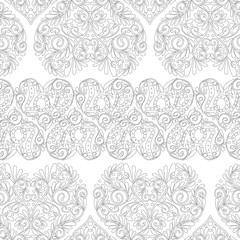 Seamless pattern with Love Hearts