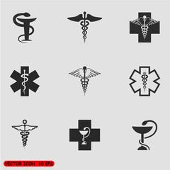 Medical symbol set. Vector