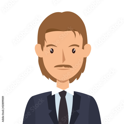 quotavatar man cartoon wearing suit and tie vector