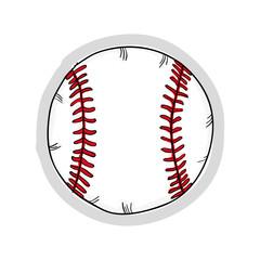 baseball ball sport game equipment. drawn equipment. vector illustration