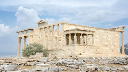 Erechtheion at Acropolis of Athens, Greece