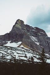 Rocky mountain peaks, Glacier National Park, Montana, Canada, United States of America