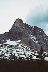Rocky mountain peaks, Glacier National Park, Montana, Canada, United States of America